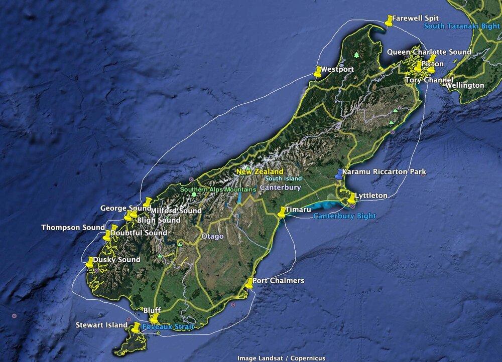 South Island Circumnavigation