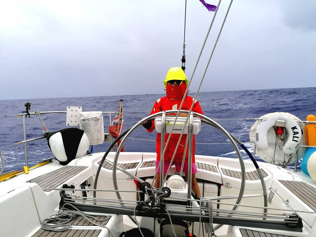 Helming Atlantic Crossing
