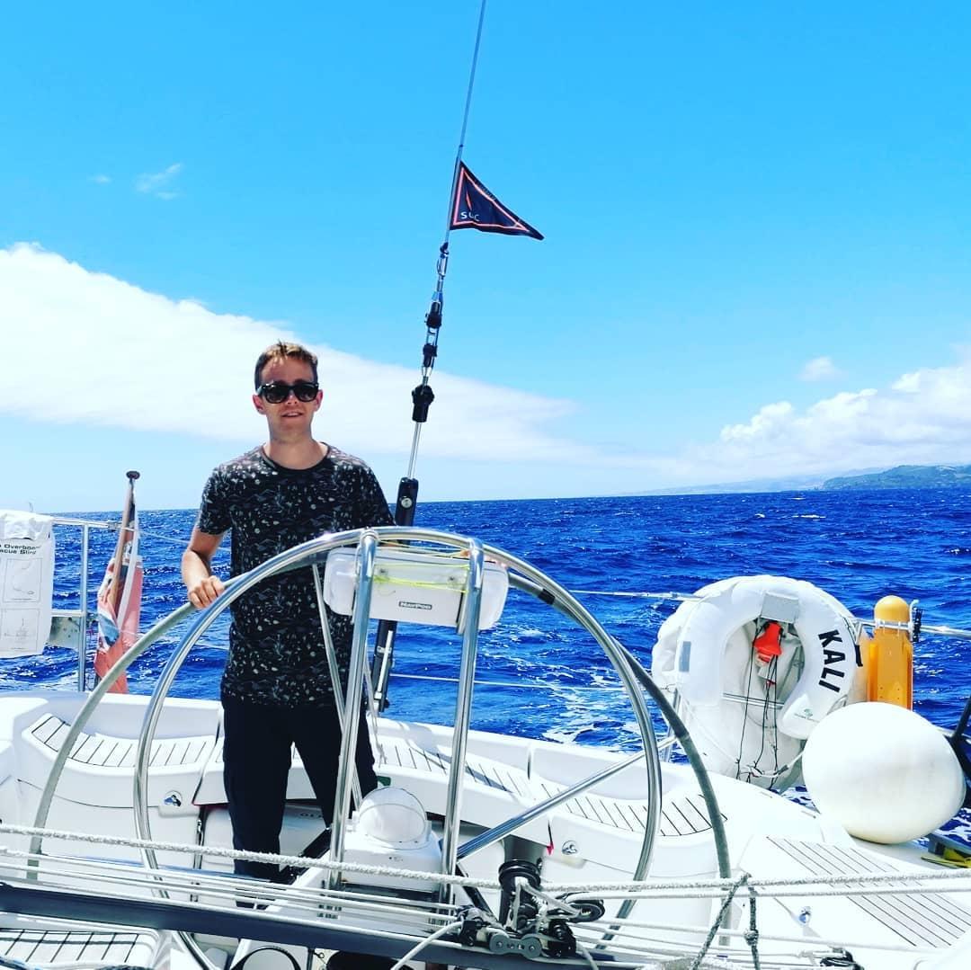 Sailing Yacht Kali leaving Ponta Delgada, Azores
