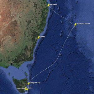 The 1,300nm passage from Southport to Lord Howe Island to Hobart